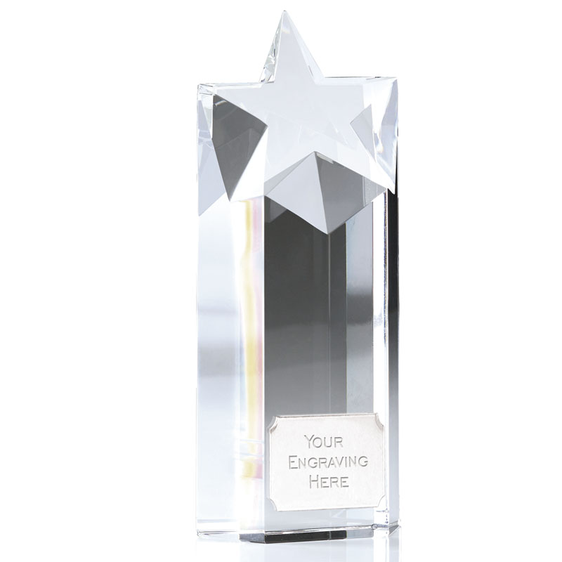 6 Inch Star Block Focus Crystal Award