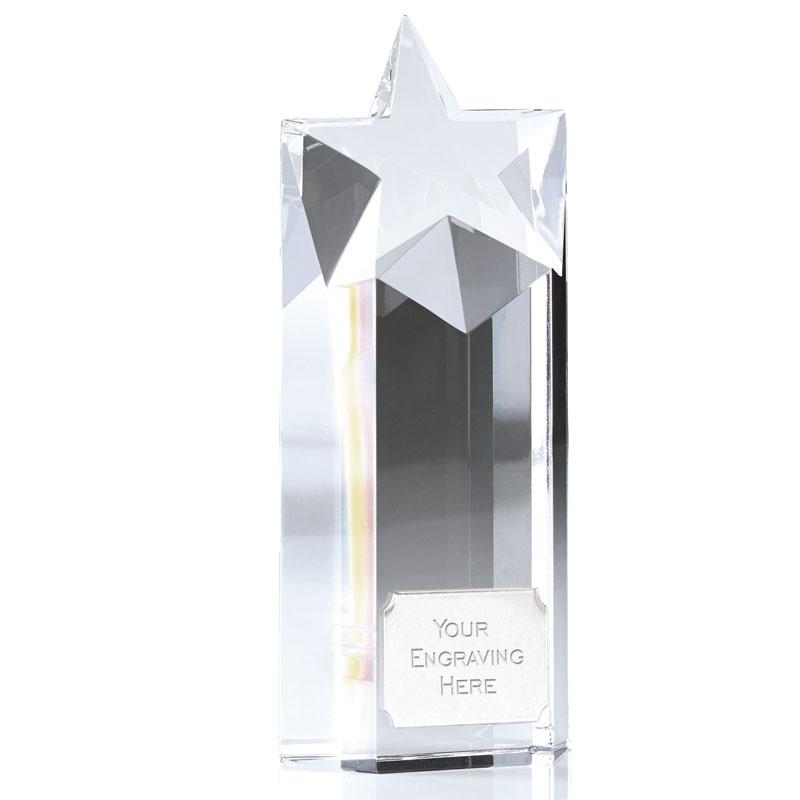 8 Inch Star Block Focus Crystal Award