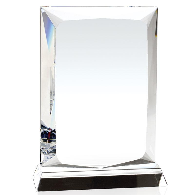 7 Inch Beveled Edge Ambition Optical Crystal Award