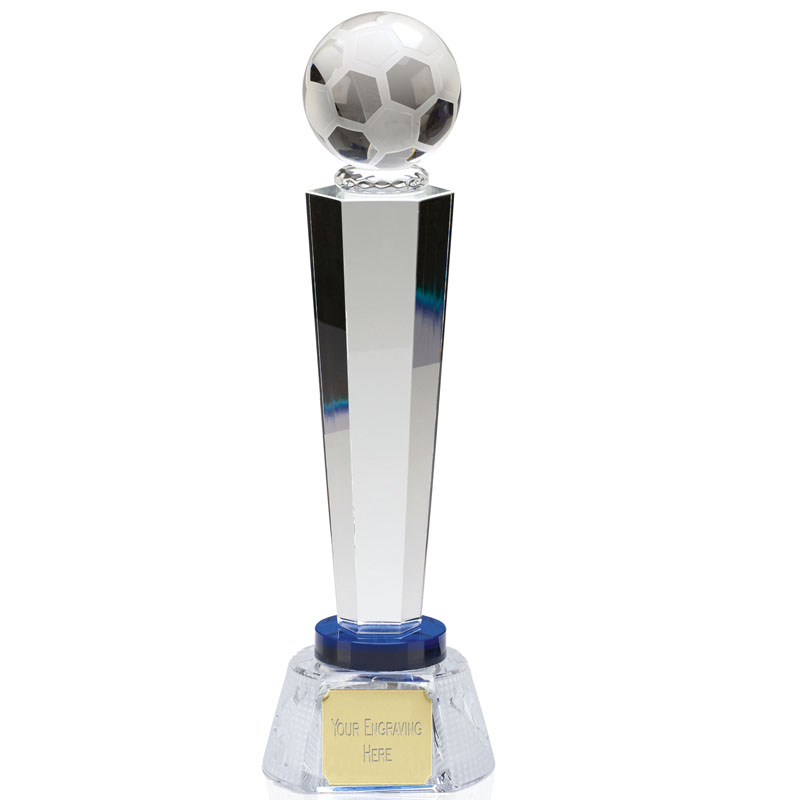 10 Inch Ball Podium Football Agility Crystal Award