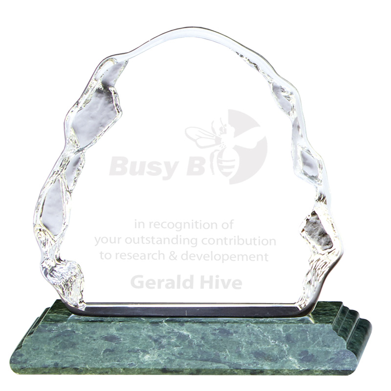 5 Inch Iceberg Ascent Glass Award