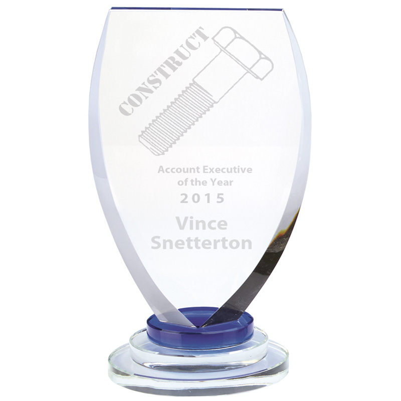 8 Inch Conquest Optical Crystal Award
