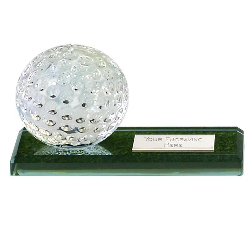 3 Inch Ball on Green Golf Mountain Marble Jade Glass Award