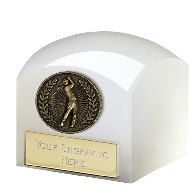 2 Inch Golfer Emblem Golf Dome Glass Award