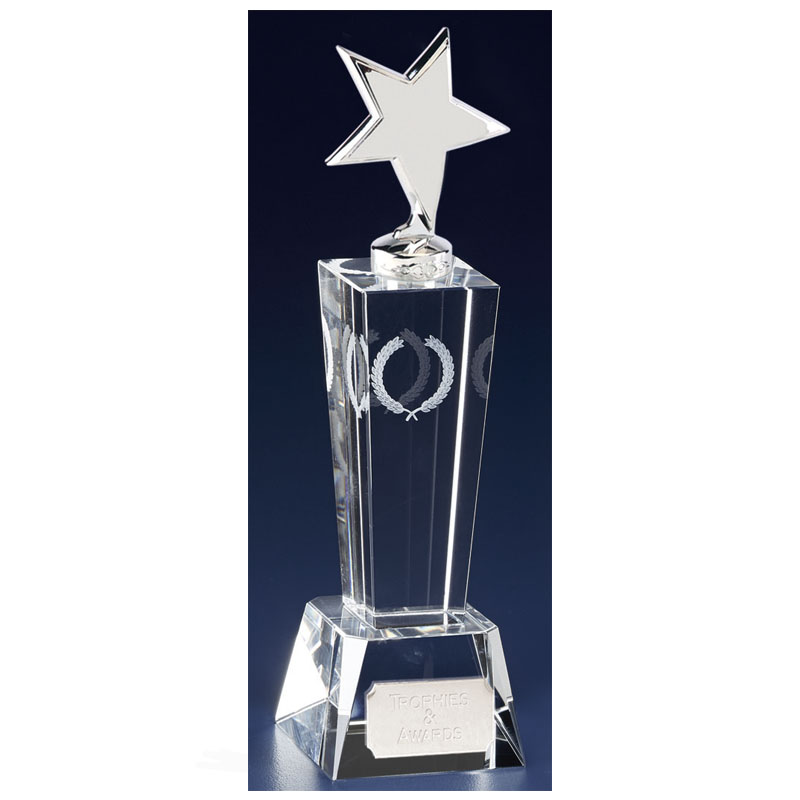 7 Inch Towering Star Unite Crystal Award