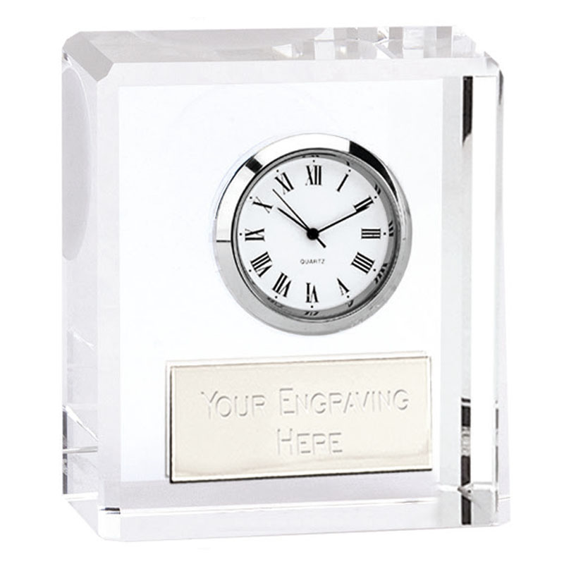 Optical Crystal Block Piazza Clock