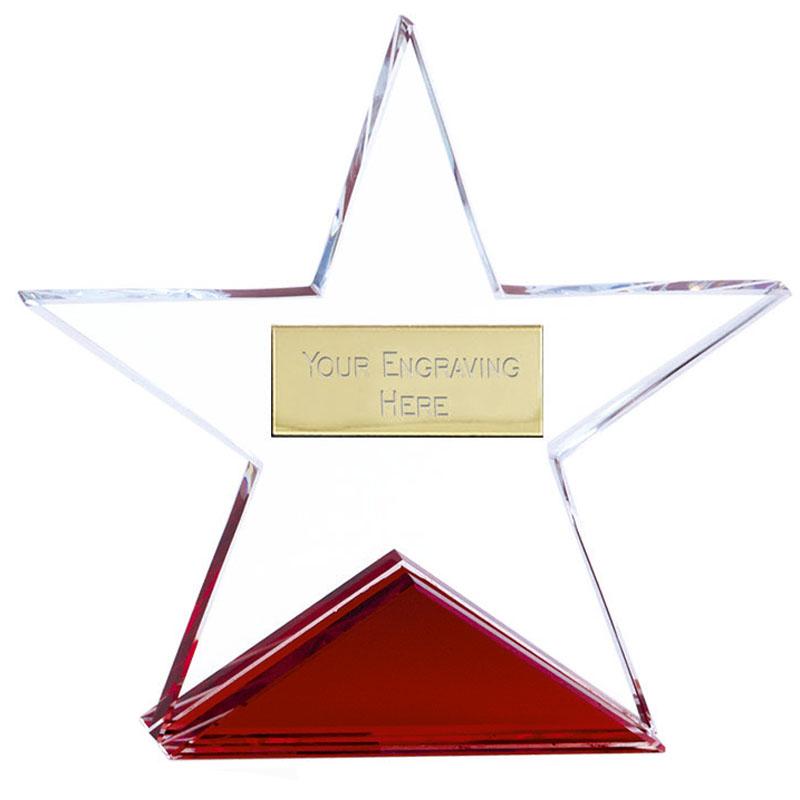 4 Inch Fire Star Crystal Award