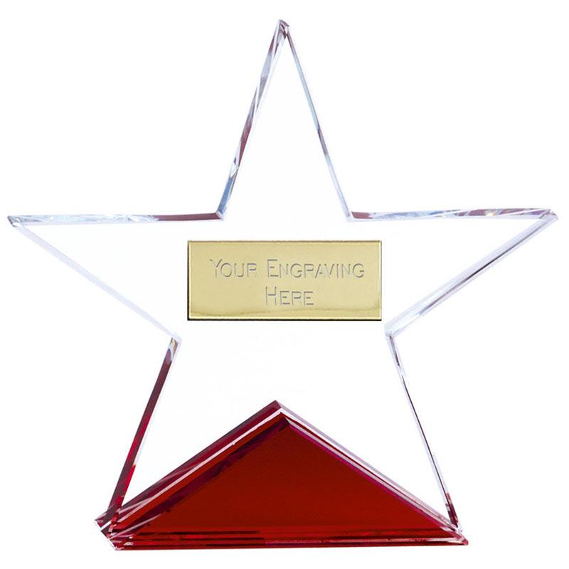 5 Inch Fire Star Crystal Award