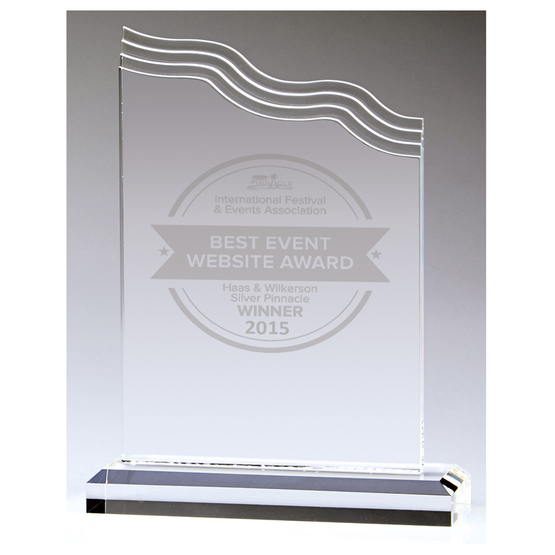 7 Inch Wave Top Nathan Acrylic Award