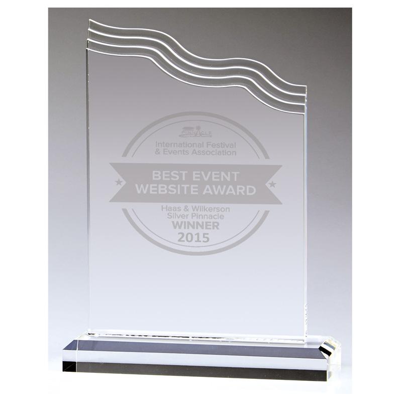 7 Inch Wave Top Nathan Acrylic Award
