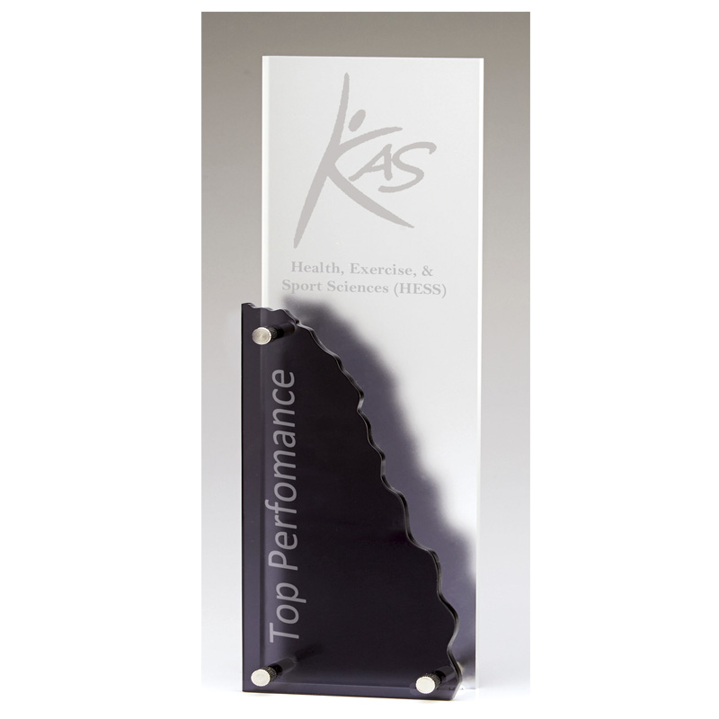 10 Inch Black Cliff Face Charter Acrylic Award