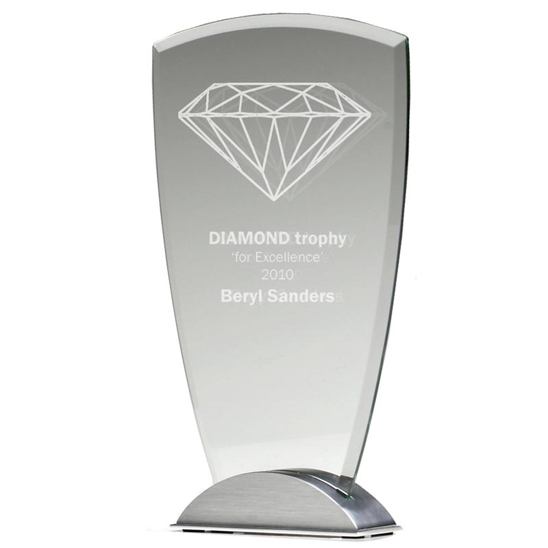 7 Inch Jade Glass Ovation Award