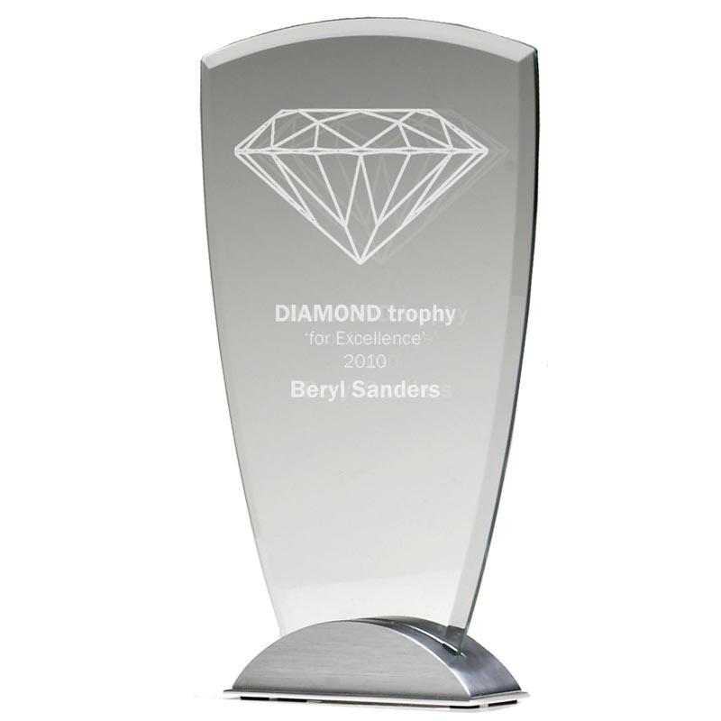 9 Inch Jade Glass Ovation Award