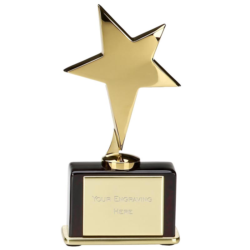 6 Inch Gold Shinning Star Award