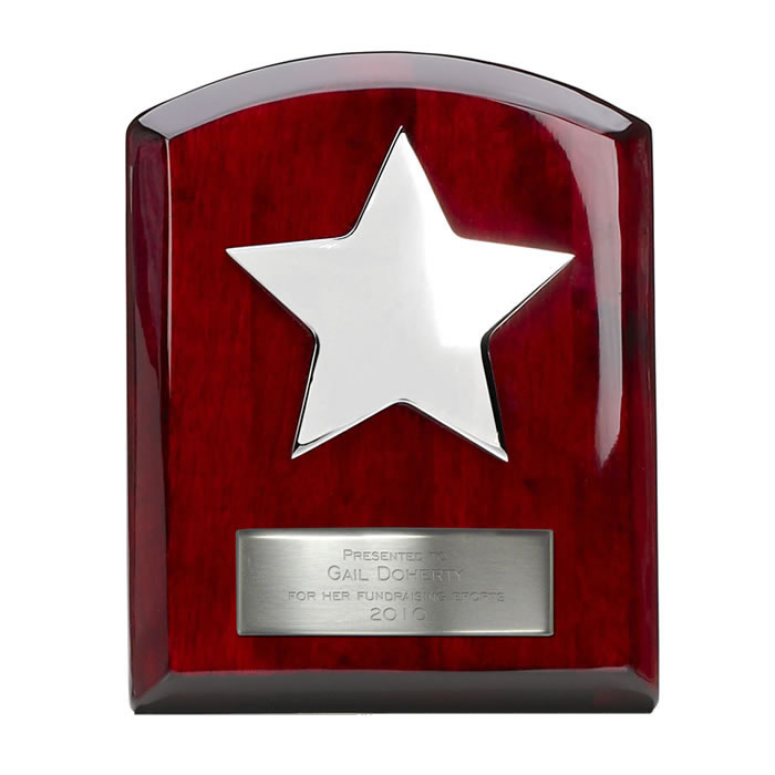 6 Inch Rosewood Star Plaque
