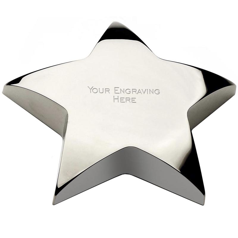 4 Inch Silver Empire Paperweight Award