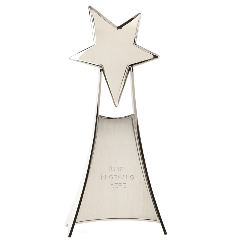 11 Inch Silver Free Standing Venture Star Award