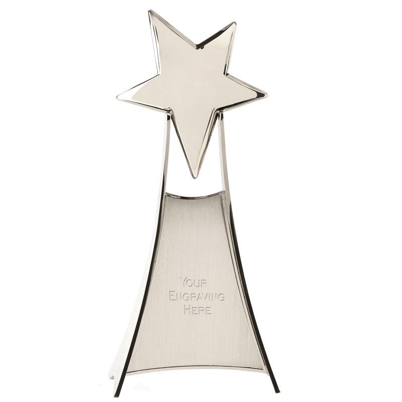 11 Inch Silver Free Standing Venture Star Award