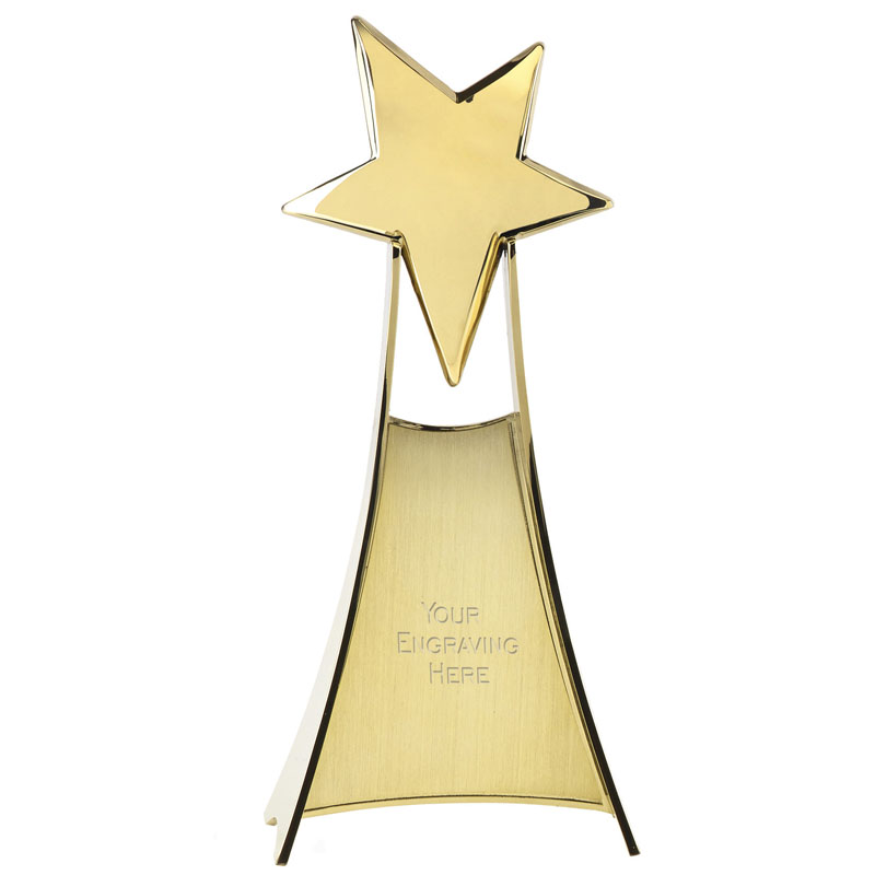 11 Inch Gold Free Standing Venture Star Award
