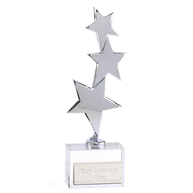 11 Inch Triple Star & Optical Base Starstruck Star Award
