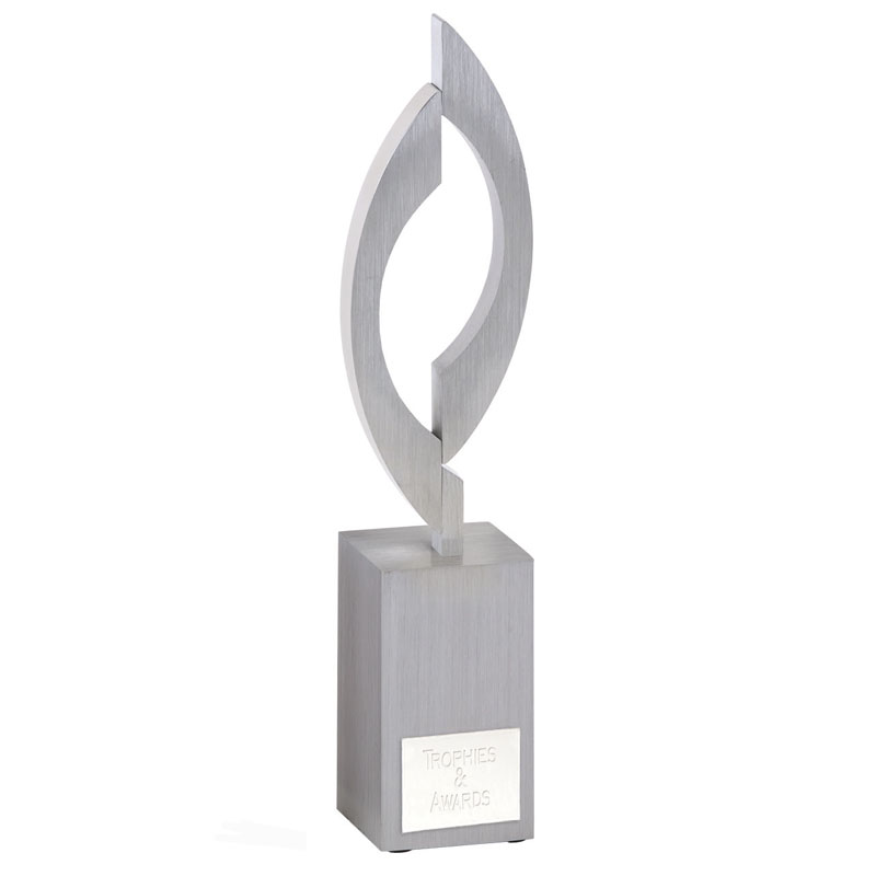 9 Inch Flame & Silver Base Victory Award