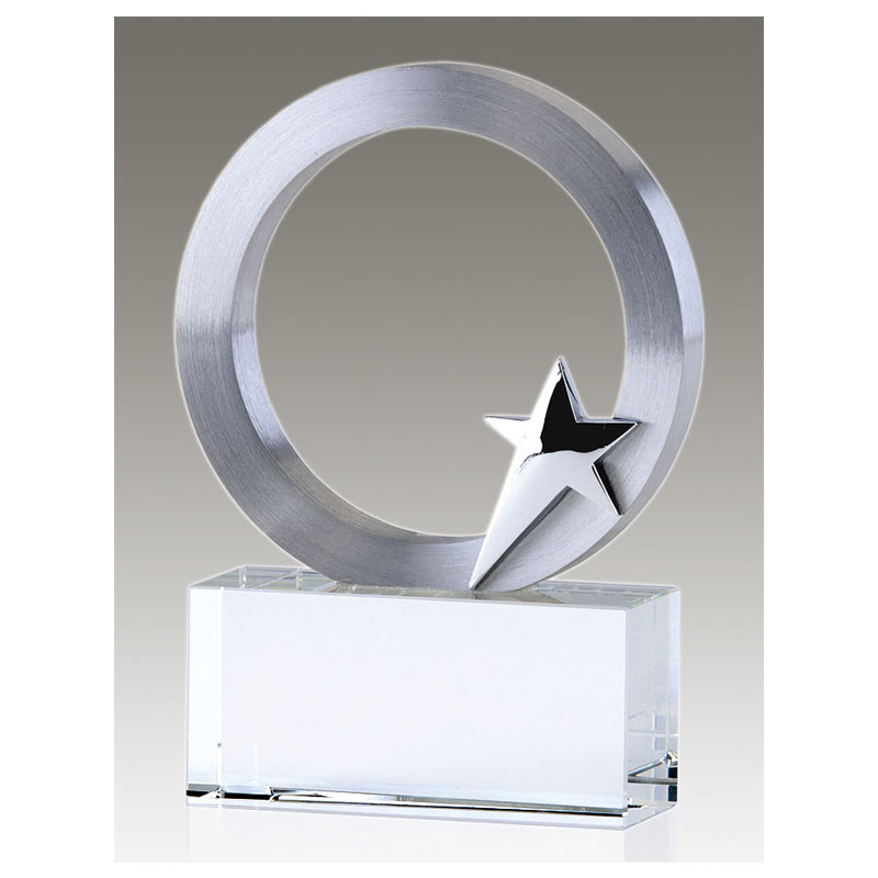 6 Inch Silver Star Disc Eclipse Award