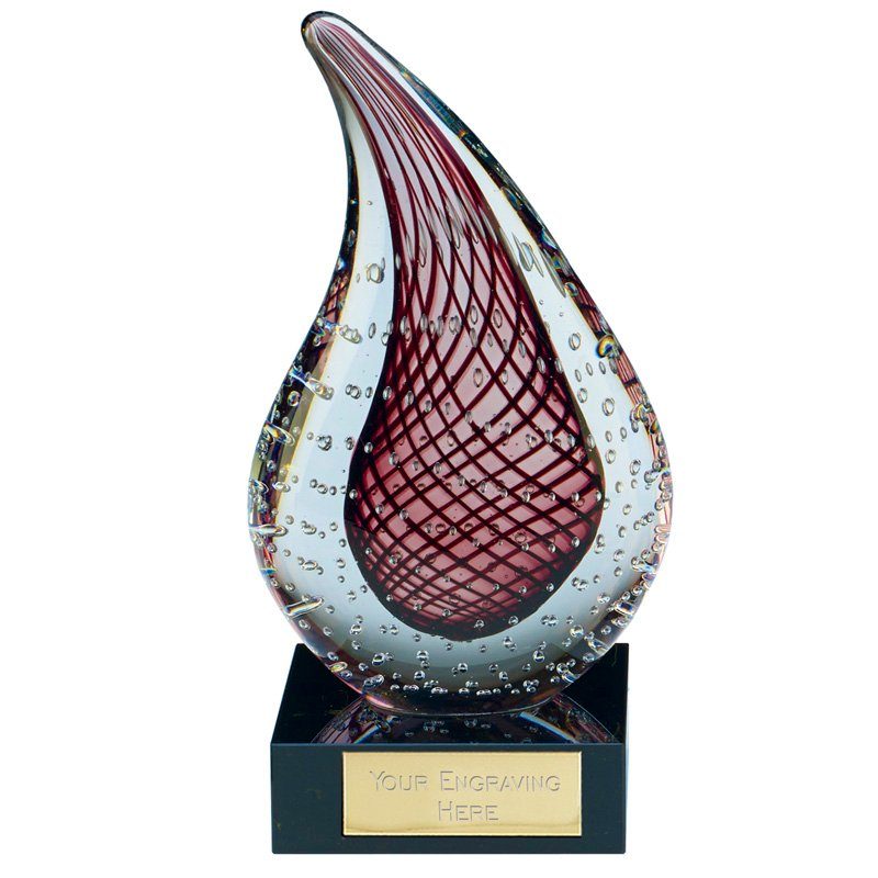 Red Droplet Muse Artistic Glass Award