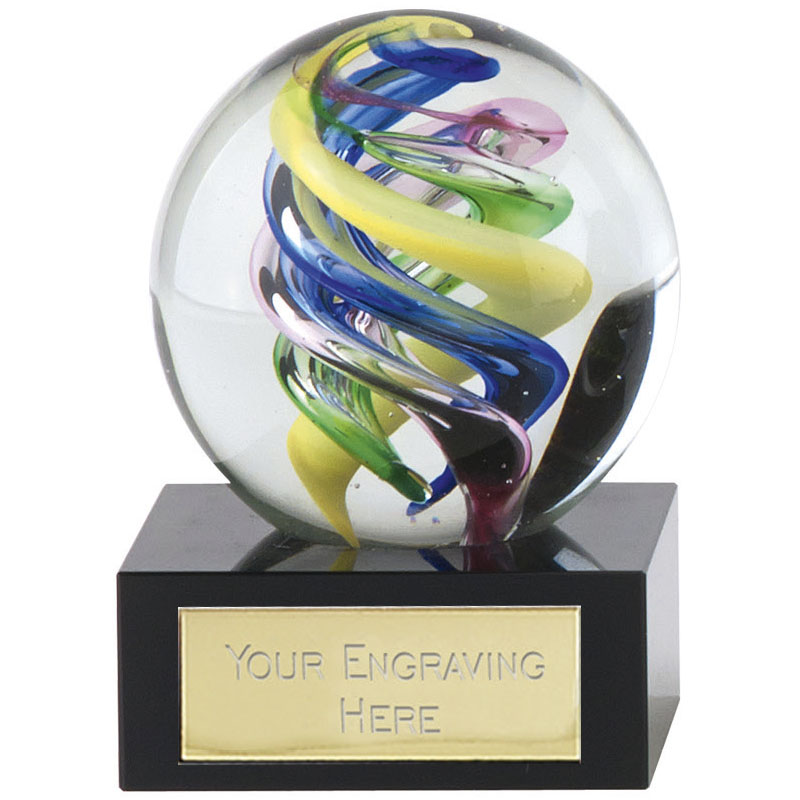4 Inch Flame Optical Illusion Atlas Artistic Glass Award