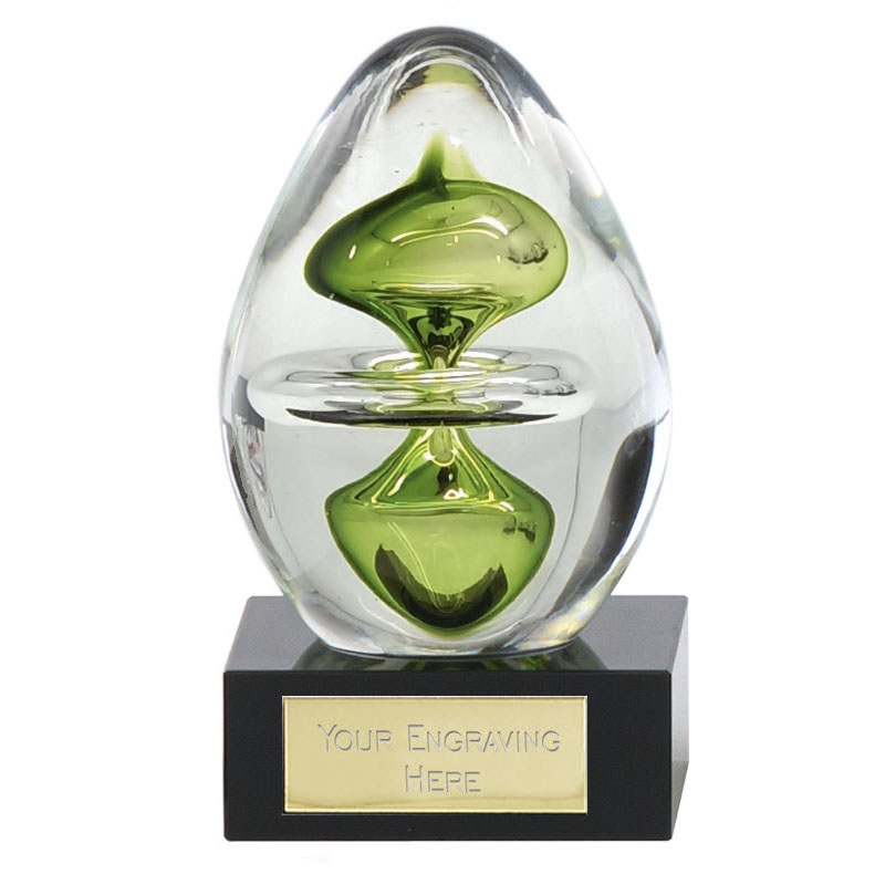 4 Inch Optical Illusion Droplet Delphi Artistic Glass Award