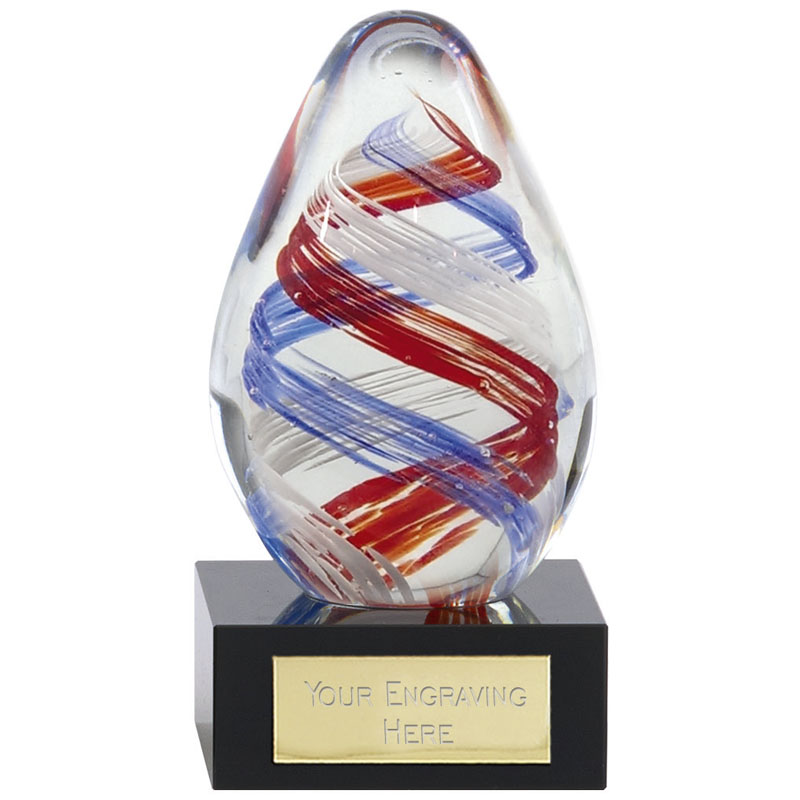 Optical Illusion Spiral Ceres Artistic Glass Award