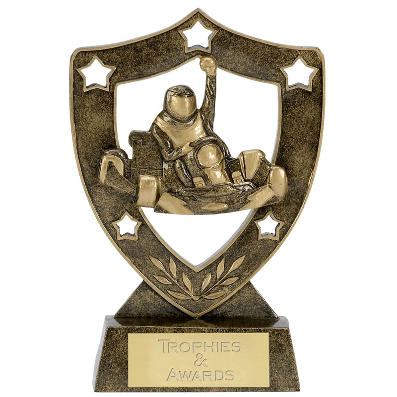 5 Inch Go Kart Motorsports Shieldstar Shield Award