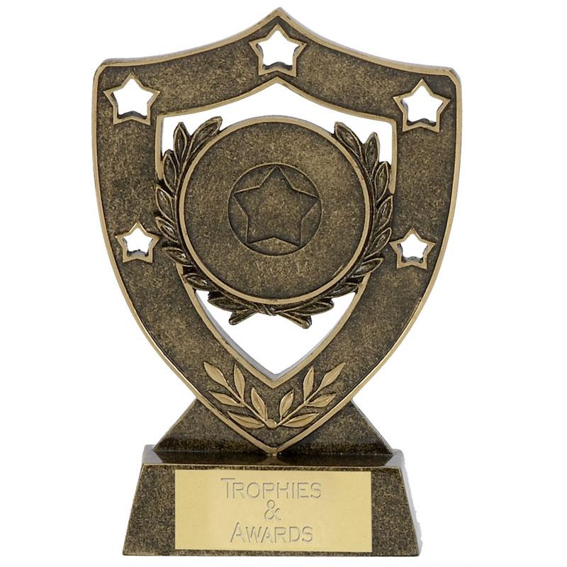 5 Inch Laurel Wreath Shieldstar Shield Award