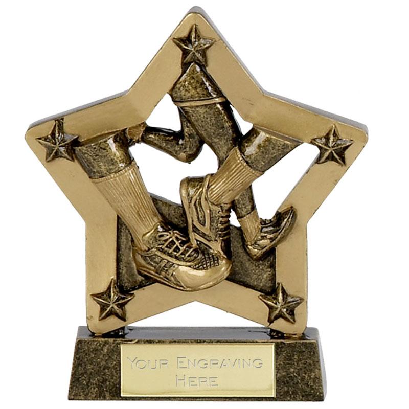 5 Inch Gold Economy Star Running Award