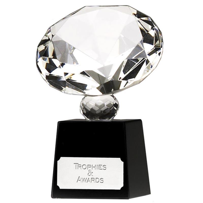 4 Inch Diamond Optical Crystal Award