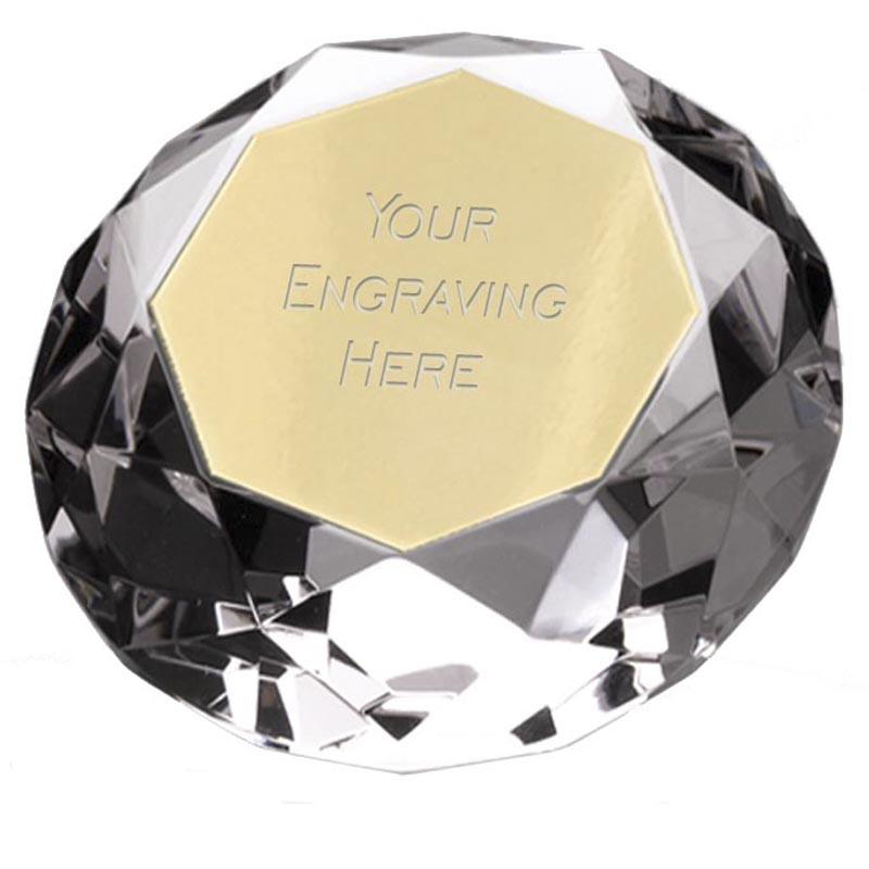 2 Inch Diamond Crystal Award
