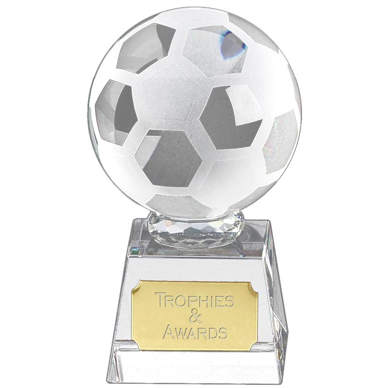 10 Inch Optical Ball Football Victory Crystal Award