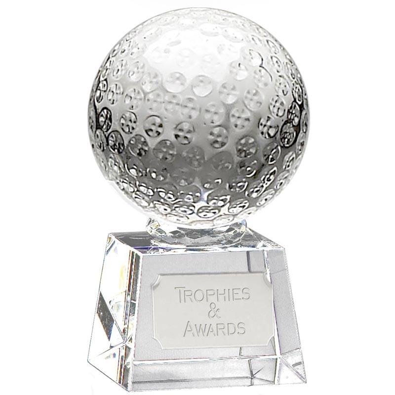 Detailed Ball Golf Victory Optical Crystal Award