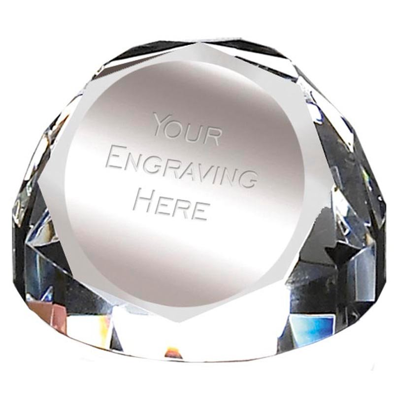 2 Inch Sparkle Crystal Paperweight Award