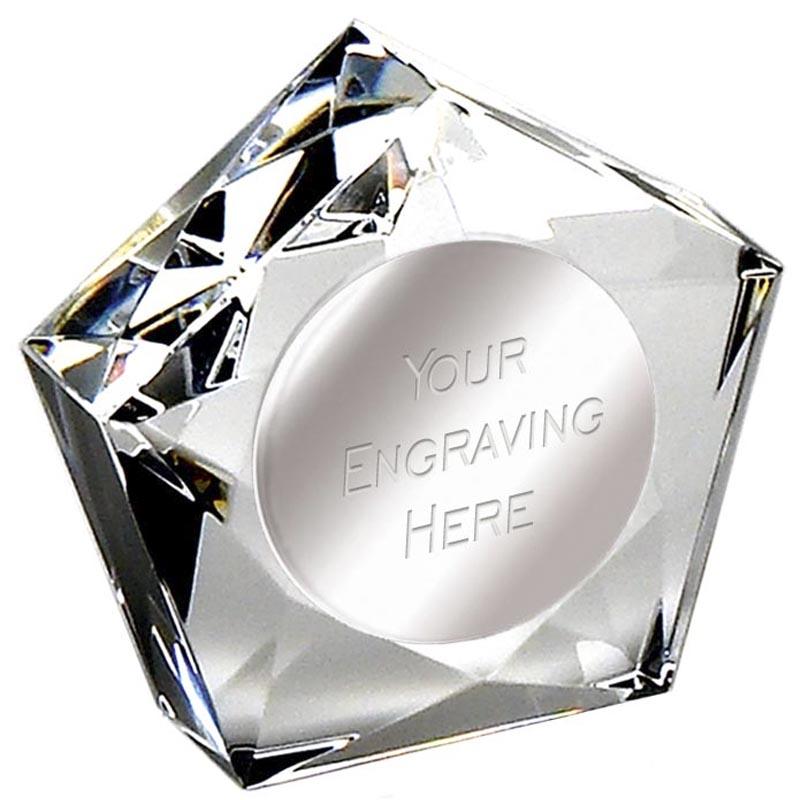 3 Inch Shining Star Crystal Paperweight Award
