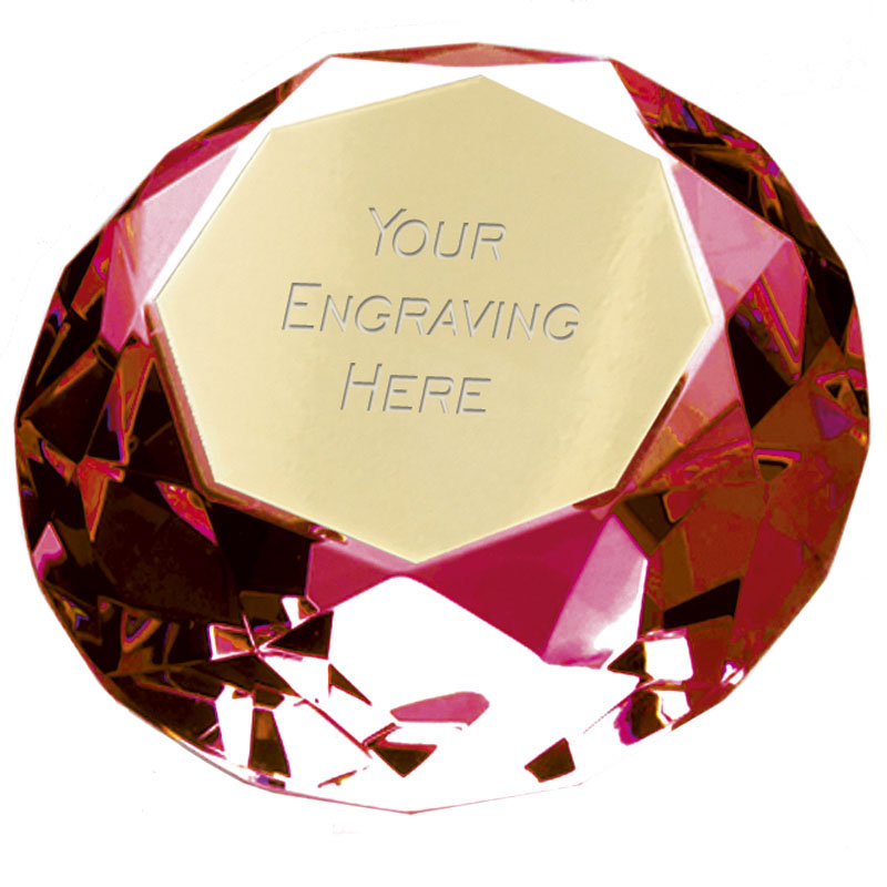 6cm Red Diamond Clarity Glass Award