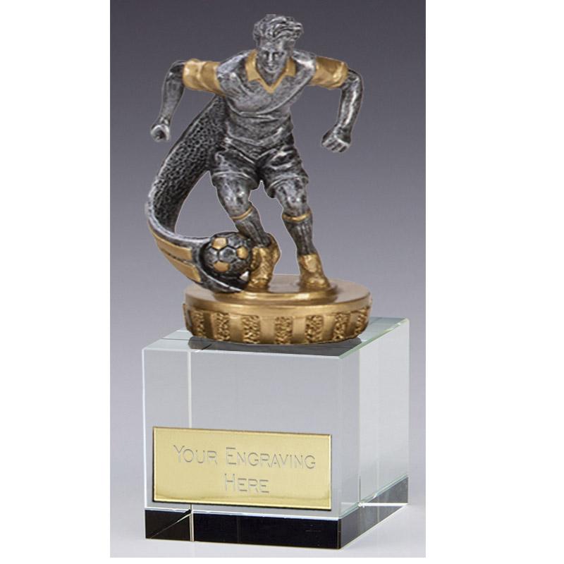 12cm Football Player Figure on Football Merit Award