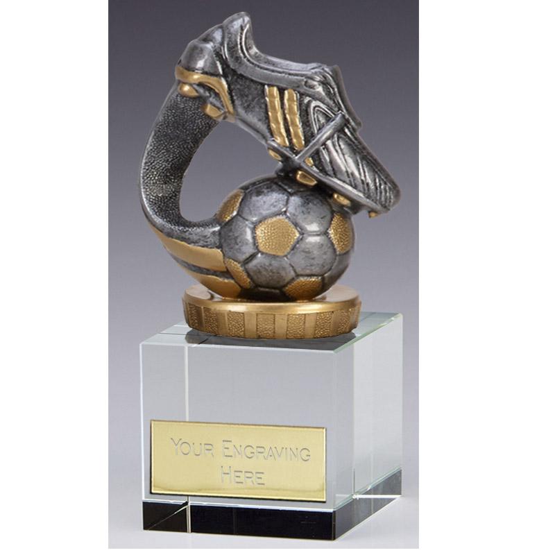 12cm Boot & Ball Wave Figure on Football Merit Award