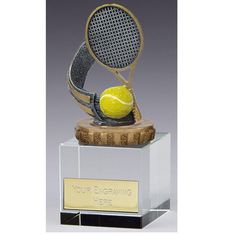 12cm Tennis Figure on Tennis Merit Award
