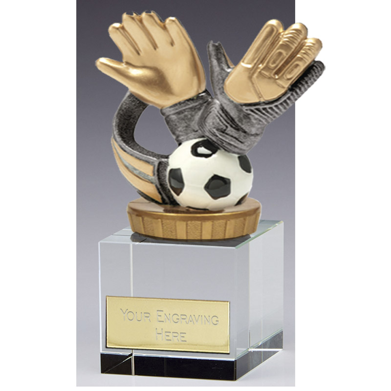 12cm Keeper Glove Figure On Football Merit Award