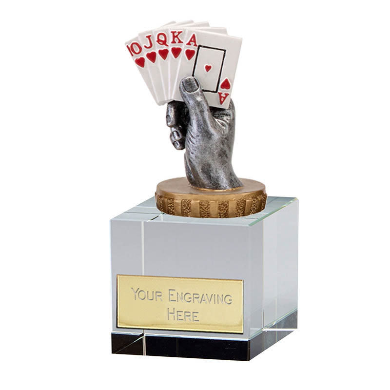 12cm Playing Cards Figure On Merit Award