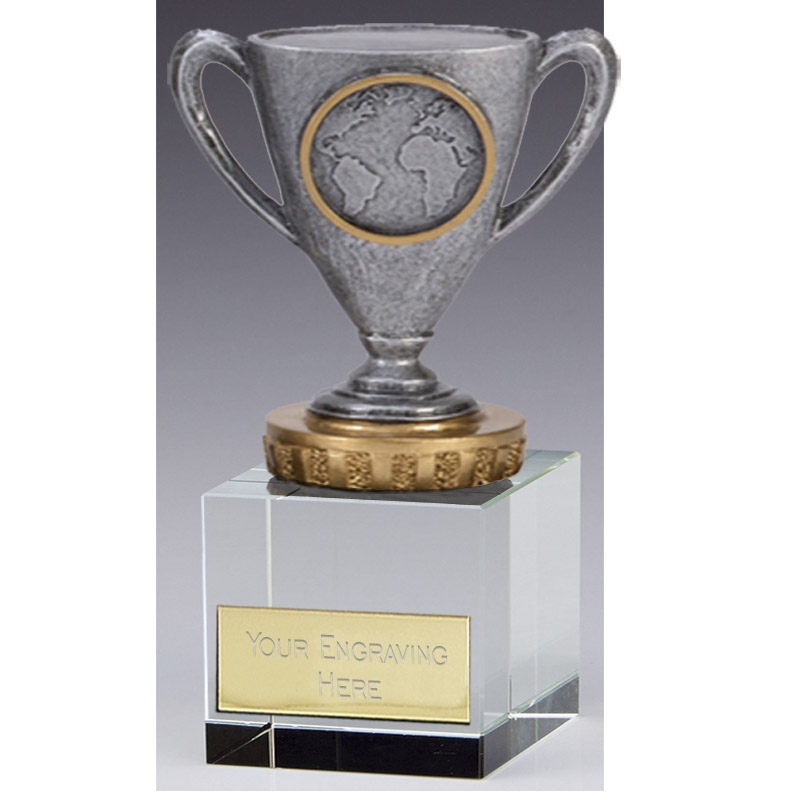 12cm Cup with Centre Figure on Merit Award