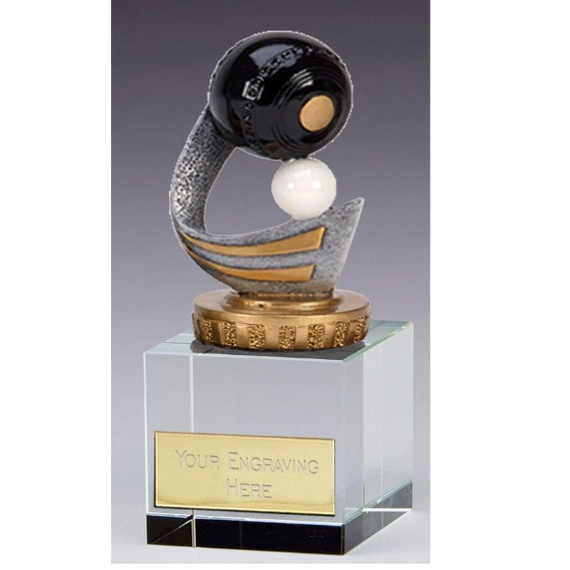 12cm Lawn Bowls Figure on Bowling Merit Award