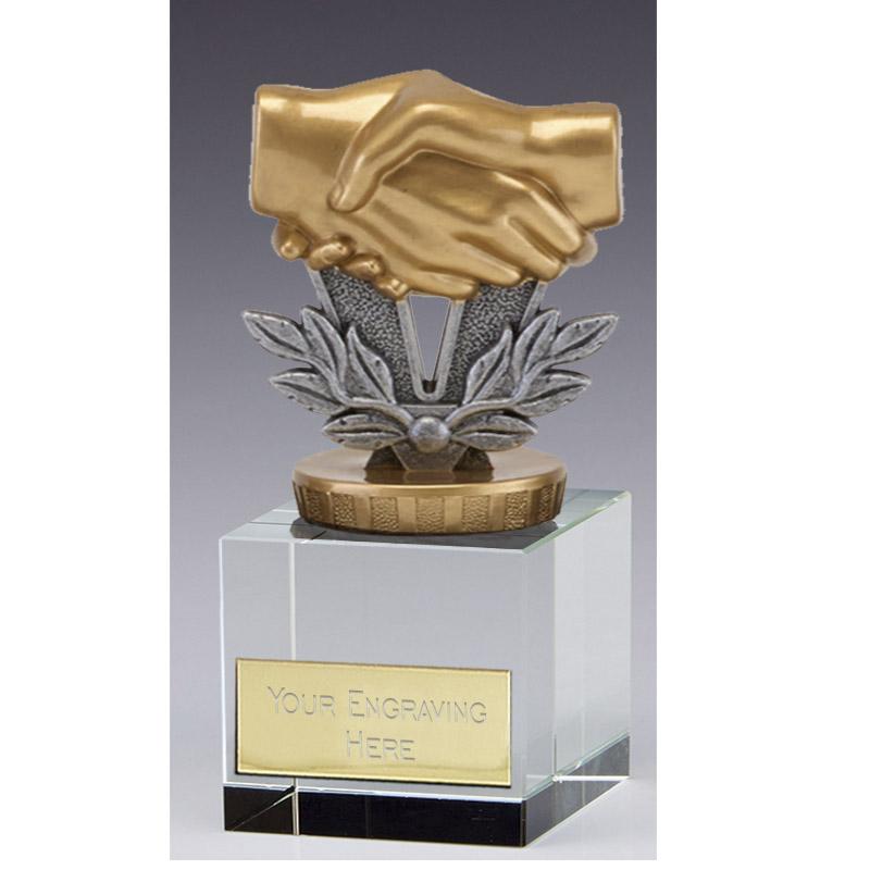 12cm Handshake Figure on Merit Award