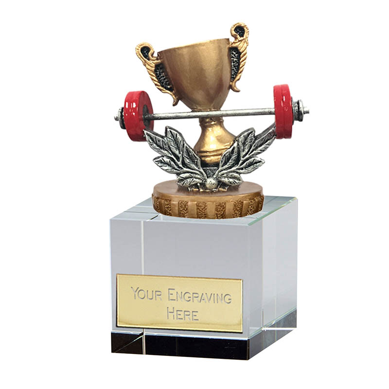 12cm Weightlifting Figure on Weightlifting Merit Award