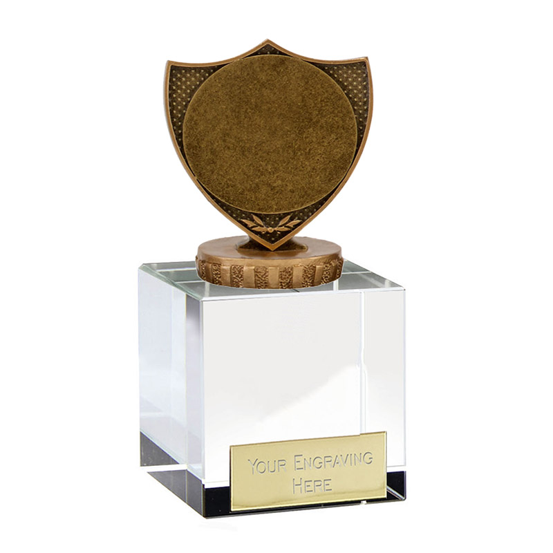 "12cm Shield with 2"" Centre Figure on Merit Award"